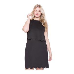 eloquii black scalloped dress